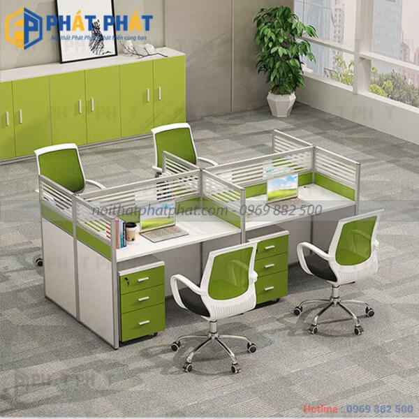 Không gian làm việc đẳng cấp với mẫu bàn văn phòng có vách ngăn