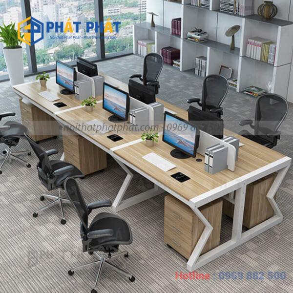 Không gian làm việc đẳng cấp với mẫu bàn văn phòng có vách ngăn - 1